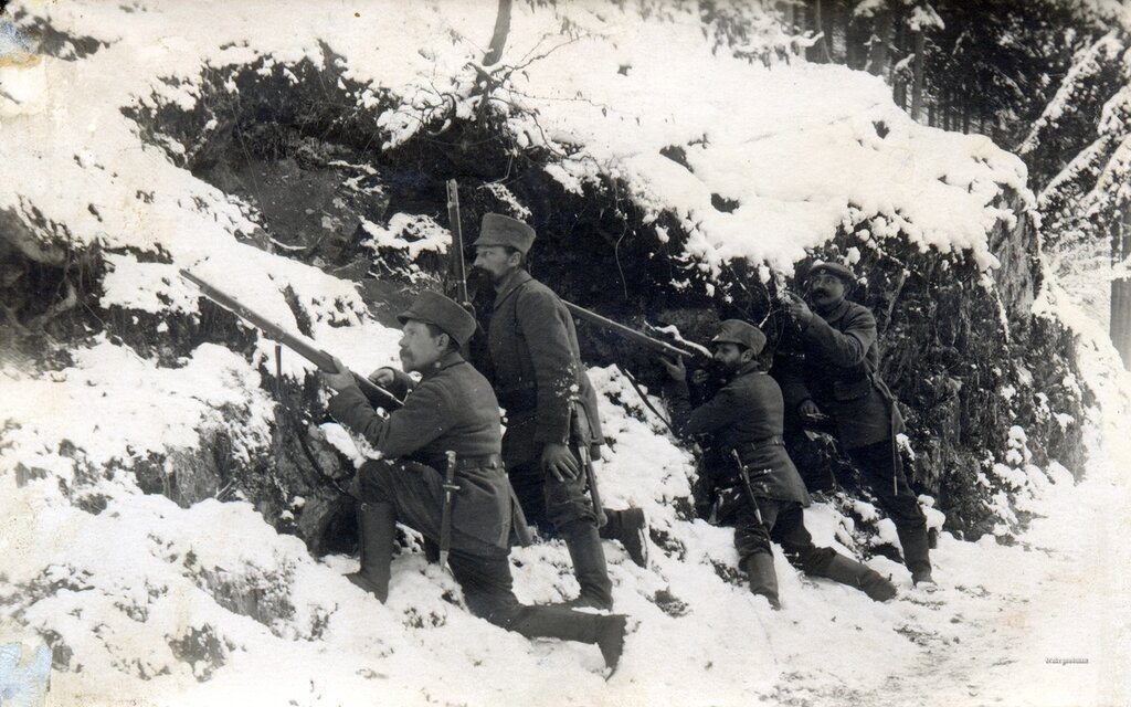 Landsturm infantrymen in action