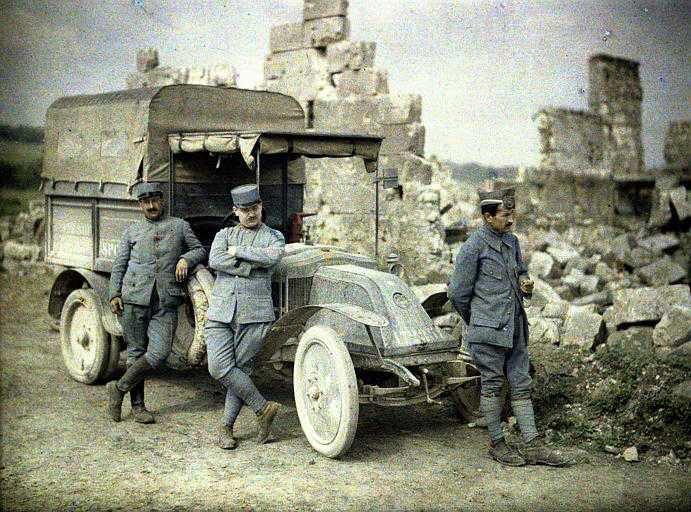 Руин деревня нойон франция 1917 год