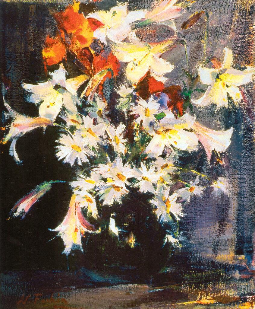 Лилии и маргаритки (1940-е).jpg
