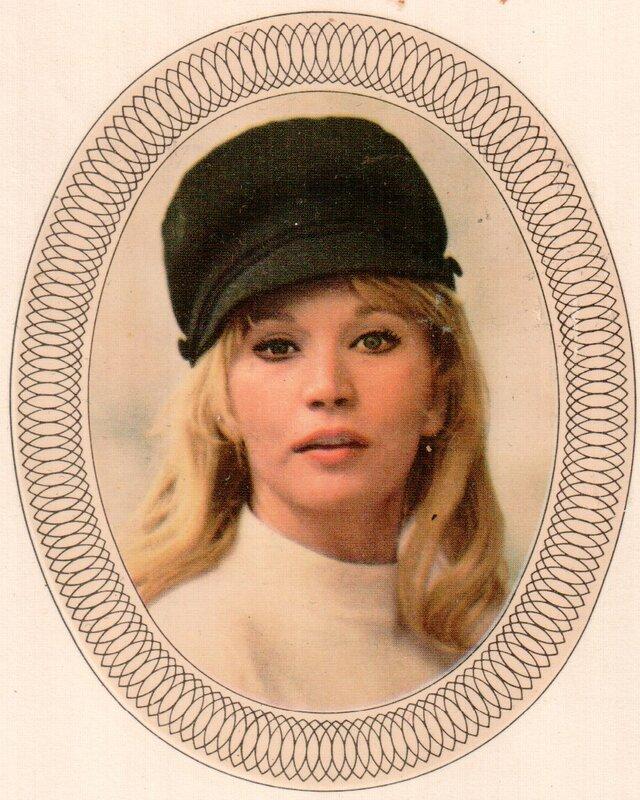 Переводная картинка из ГДР девушка Luisa Rivelli 1971