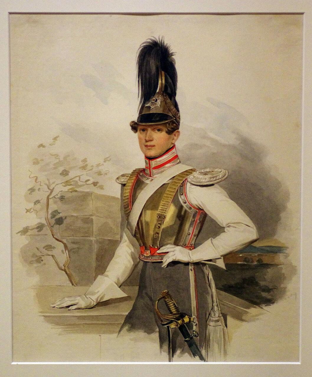 Петр Федорович Соколов. Портрет графа В.Г. Строганова. 1828