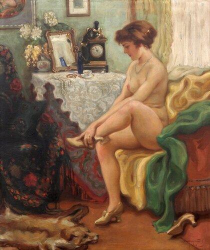 Malíř Bohumil Mareček (1884-1962,Czech painter)