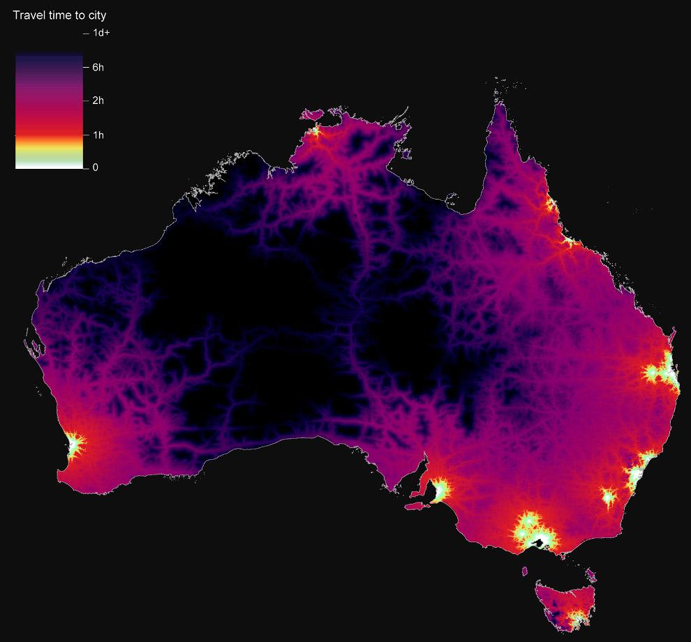 5. В отличие от Австралии, в США хорошо развиты и связаны между собой как сельские районы, так и гор