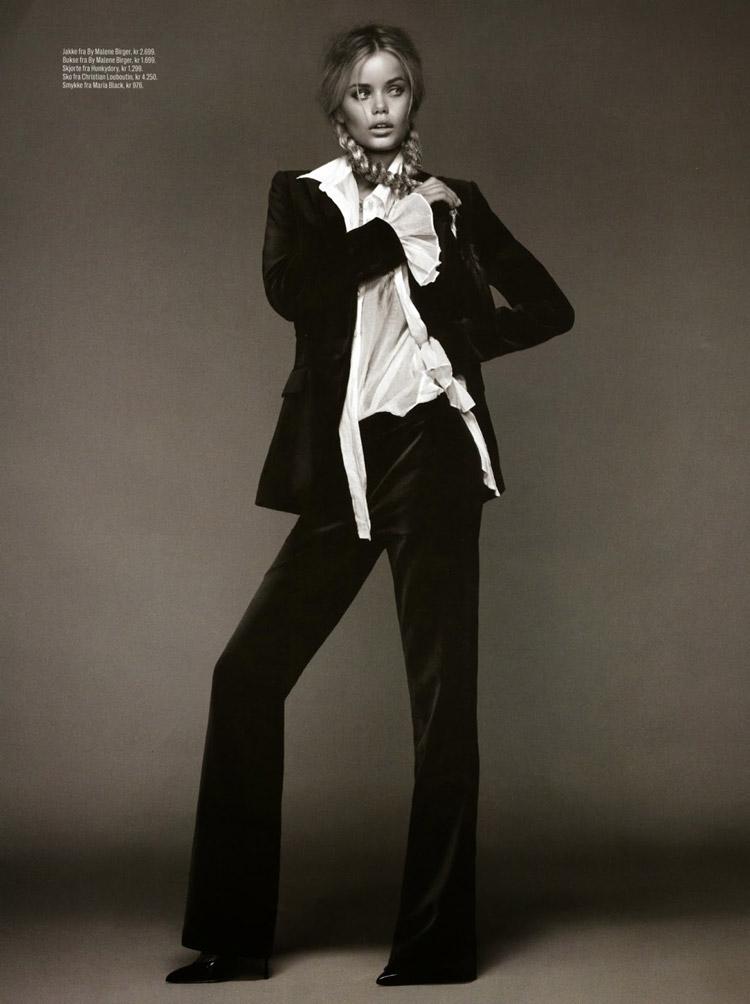 Фрида Аасен в сентябрьском номере журнала Elle Norway