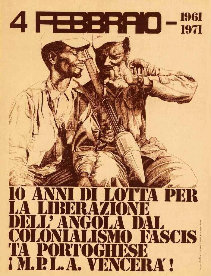 4 февраля 1961 года - 10 лет борьбы за освобождение Анголы от португальского колониализма. Победа МПЛА (Народного движения за освобождение Анголы - Партии труда)