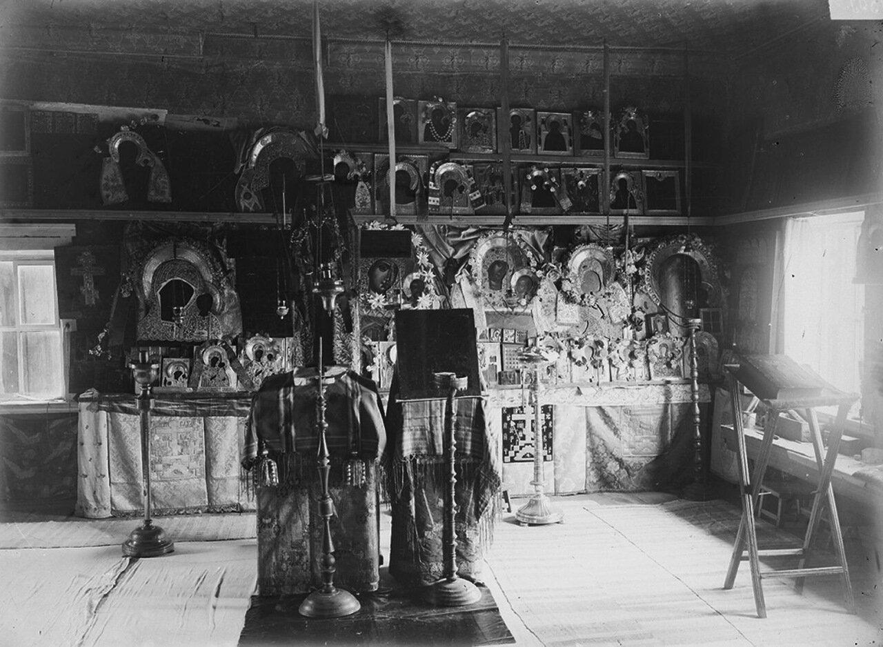 Шарпанский скит. Молельня (внутренний вид). 1897 г. Нижегородская губерния, Семеновский уезд.