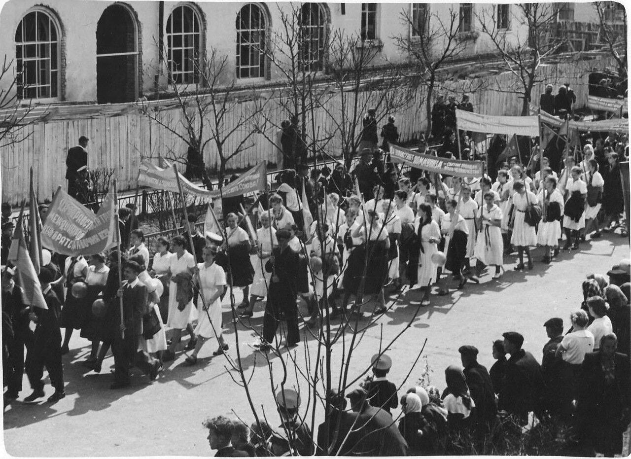 1957. Демонстрация 1-го Мая