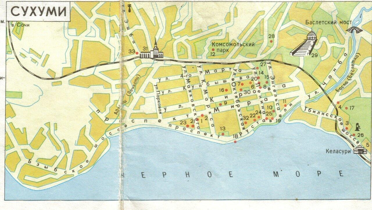 Карта Сухуми