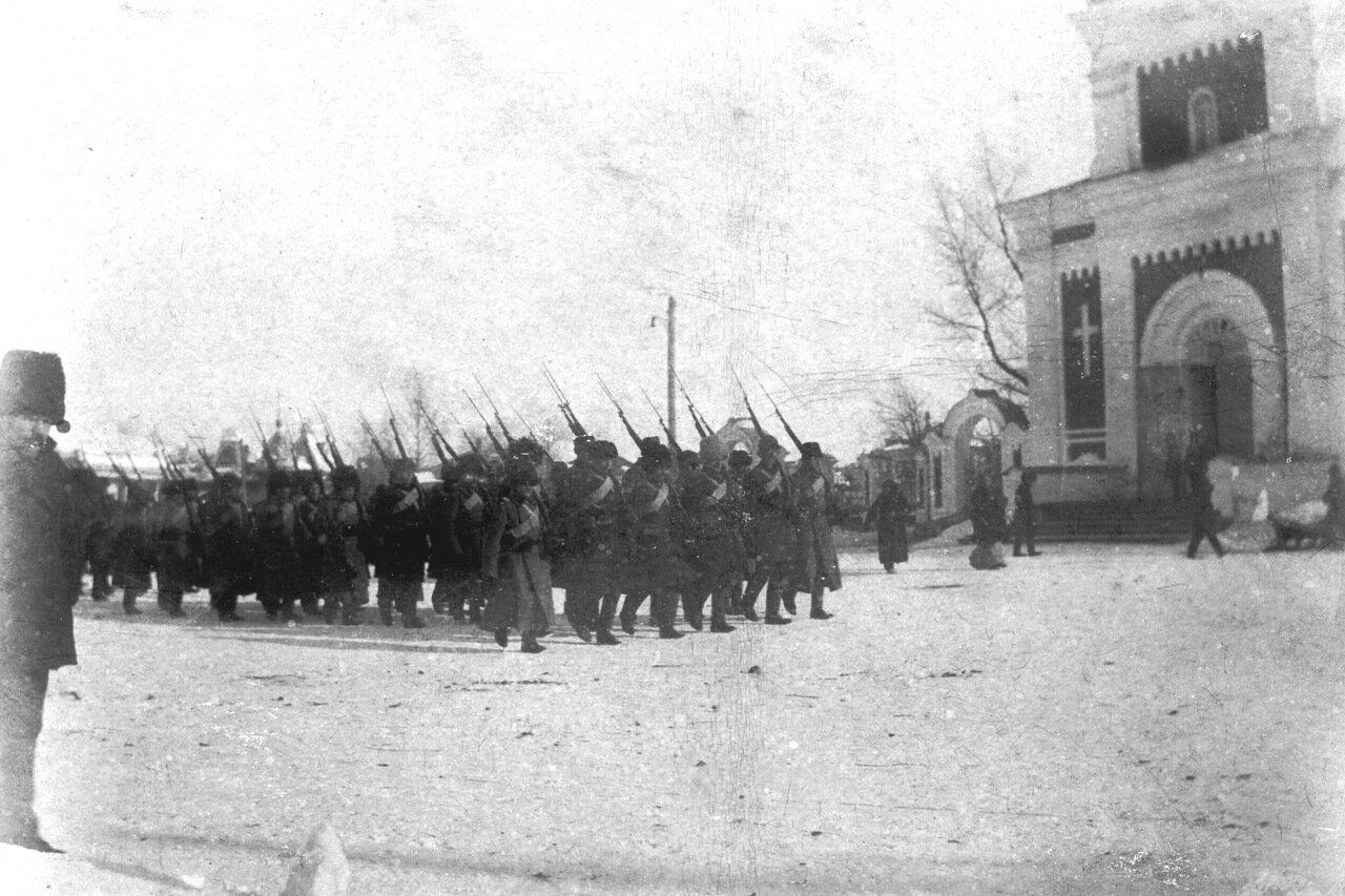 Бийчане уходят на фронт Первой мировой
