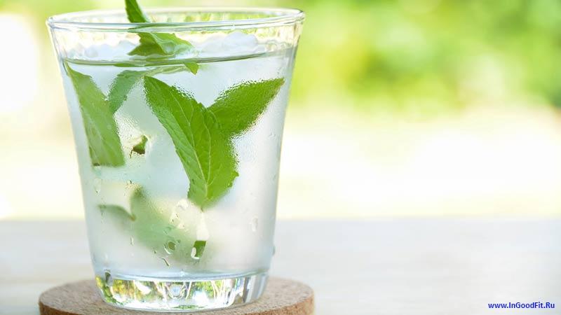 детокс вода с мятой