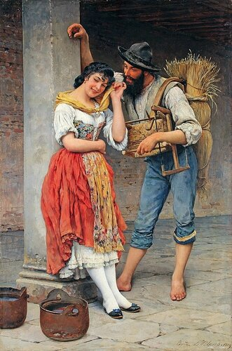 Eugene de Blaas - The Spider And The Fly