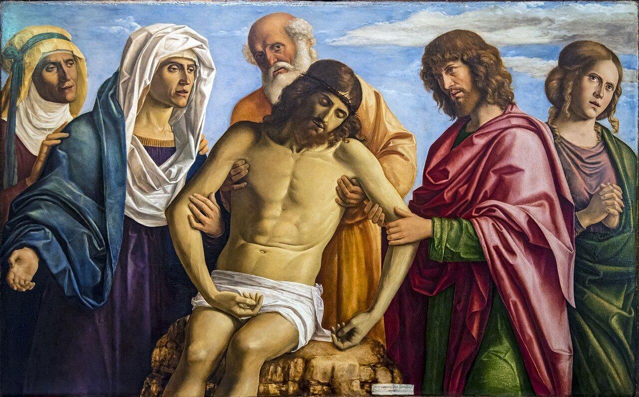 Accademia - Cristo in pietà sostenuto dalla Madonna, Nicodemo e san Giovanni Evangelista con le Marie - Cima da Conegliano