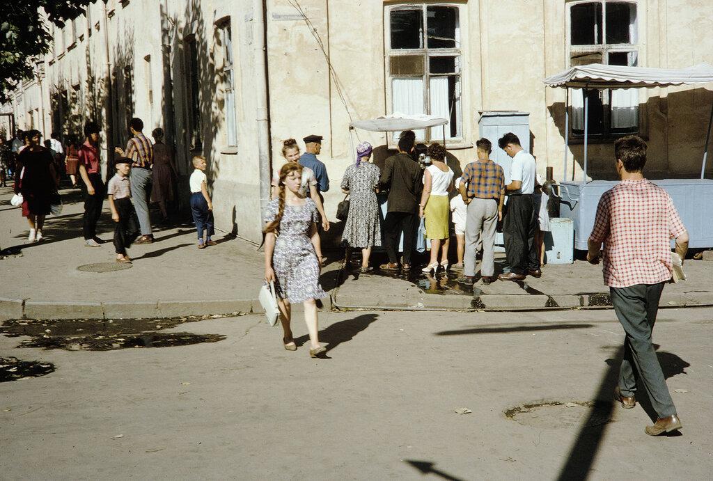 Russia, street scene in Irkutsk