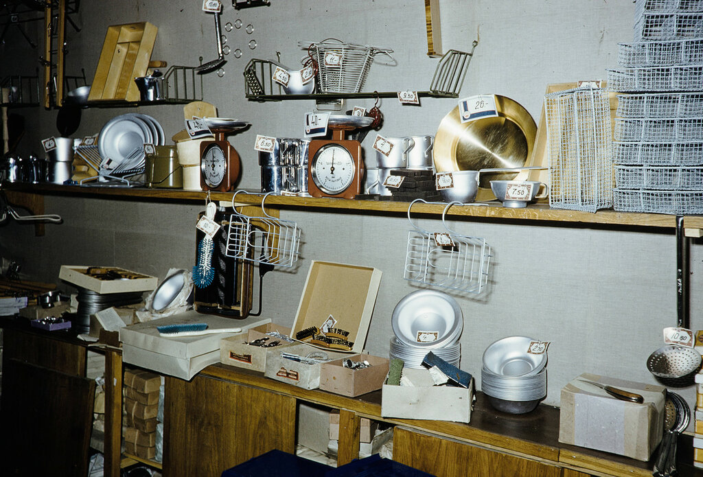 Russia, kitchenware displayed at store in Moscow