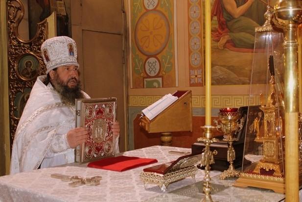 Праздник Крещения Господня в кафедральном свято-Николаевском соборе г. Алчевска 2014 г