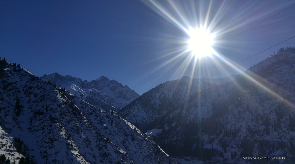 Солнце в горах, Медеу.