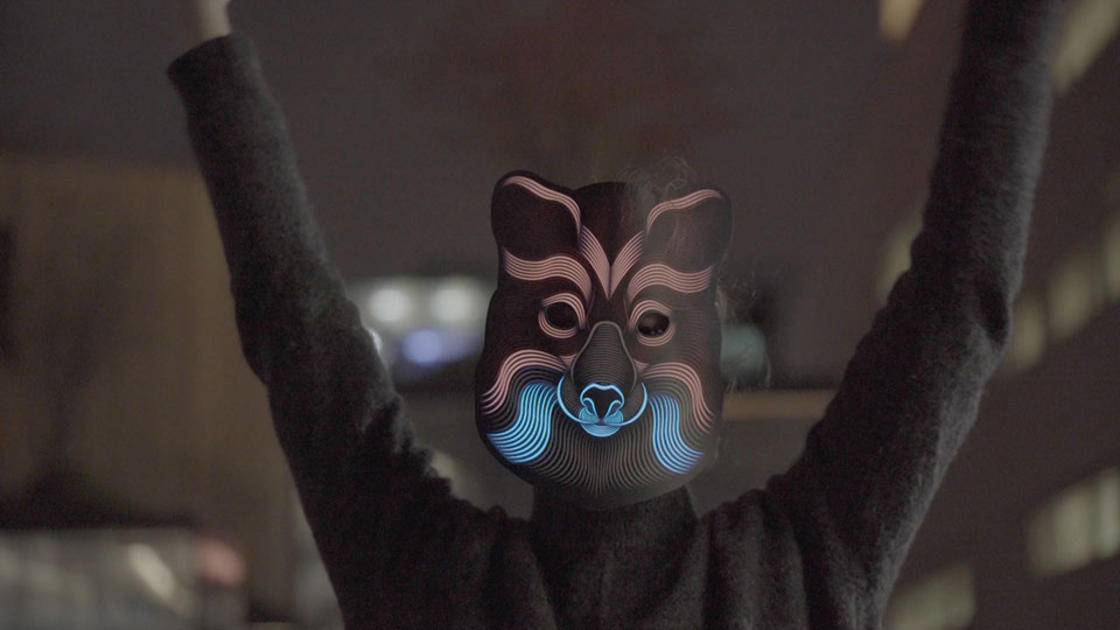 Outline Mask – These beautiful masks react to music with light