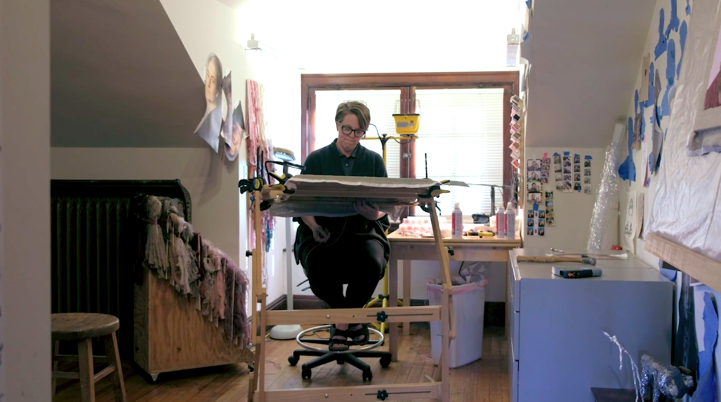 artist Portrait portraits brass embroidery gallery Videos the interview