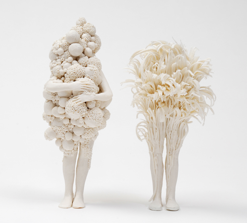 Anonymous Figures Struggle Against Nature in Porcelain Sculptures by Claudia Fontes