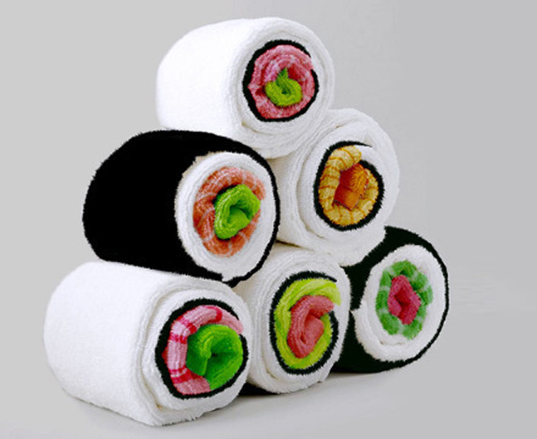 Sushi Towels – Cute towels to roll like sushi