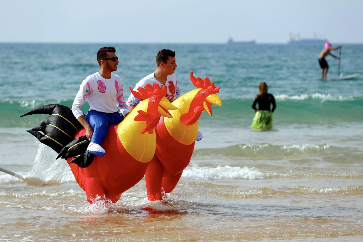 А мы резвимся у самой кромки моря: Два израильских лихих скакуна