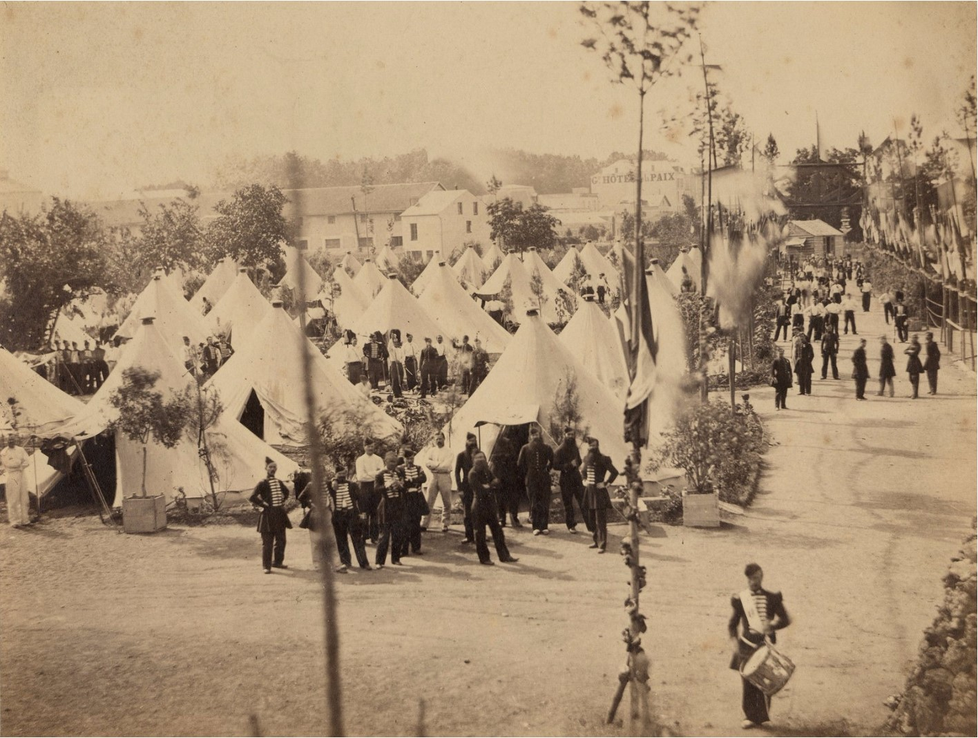 1863. Виши. Лагерь гренадер