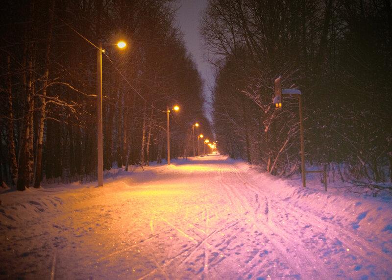 вечерняя снеготерапия