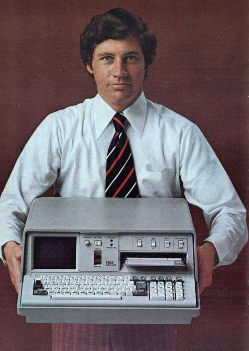 1975 Реклама IBM 5100, advertisement for the first ultra portable computer, 1975. CPU IBM proprietary, 1.9MHz. RAM 16K.jpg