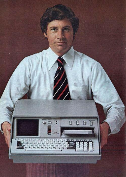 1975 Реклама IBM 5100, advertisement for the first ultra portable computer, 1975. CPU IBM proprietary, 1.9MHz. RAM 16K.jpg