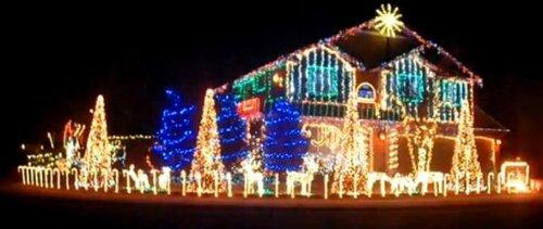 Необычные рождественские огоньки