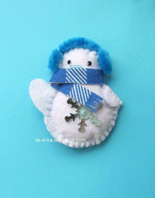 снеговик - елочная игрушка
