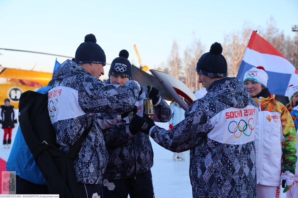 Эстафета Олимпийского огня в Кунгуре!