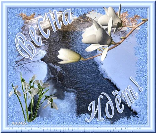 Весна идет весне дорогу открытка поздравление картинка