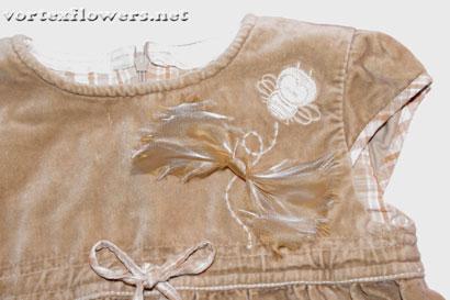 Как сделать простой бант из ткани