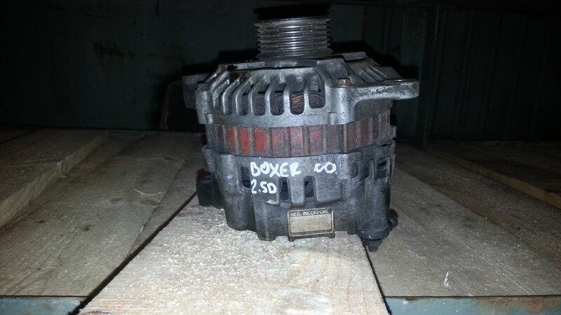 Генератор б/у 9610601580 (A004T02891A) на Peugeot Boxer 2.5D
