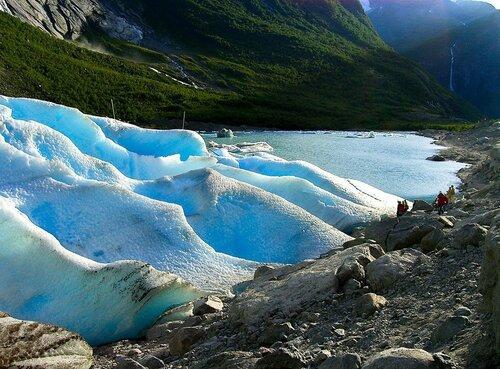 Природа в горах  Норвегии
