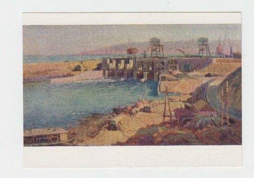 Строительство Кайрак-Кумской ГЭС