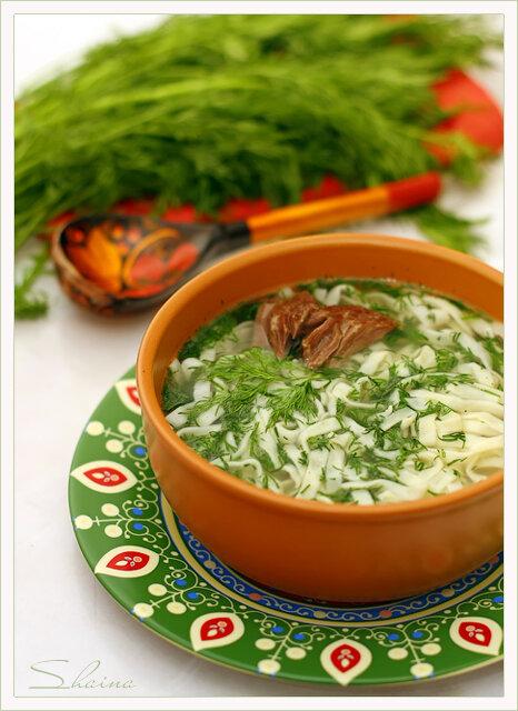 Токмач по-татарски или суп-лапша домашняя
