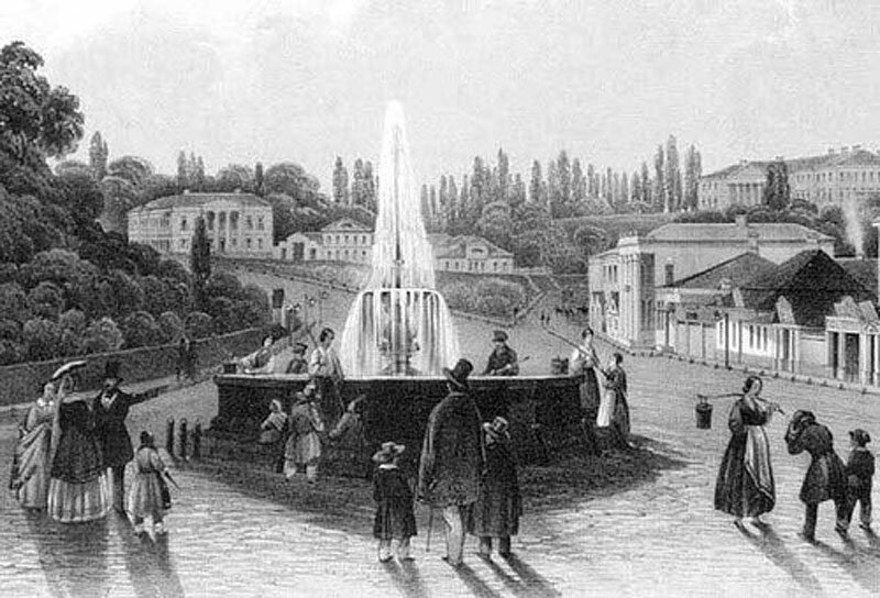 """Киев, первый водоразборный фонтан """"Иван"""" (1843)"""