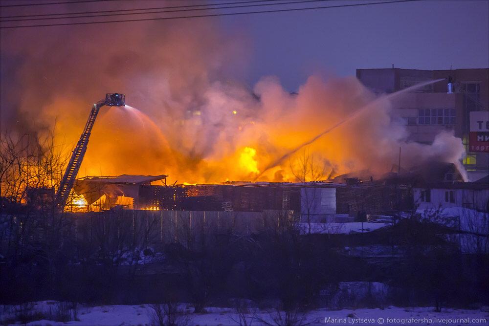 Пожар на Рябиновой 06.01.2014