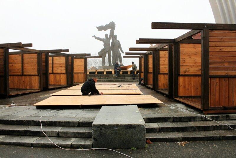 Строительство ярмарочных павильонов