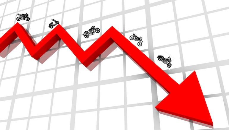 В Великобритании продажи мотоциклов снизились в 2017 году
