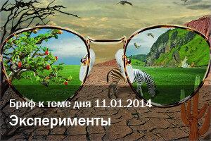 Бриф Эксперименты (к теме дня 11.01.2014)