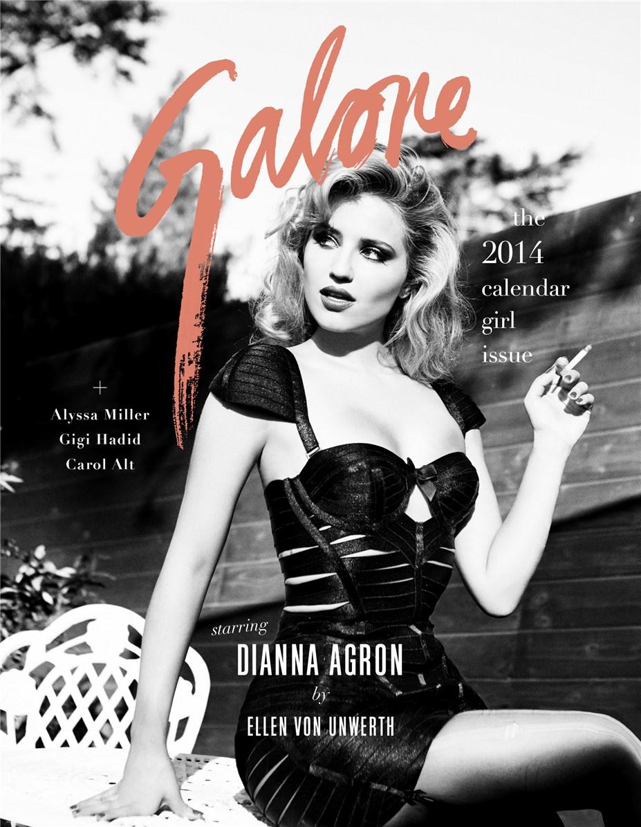 Дианна Агрон / Dianna Agron by Ellen Von Unwerth in Galore Magazine issue 5 / january 2014