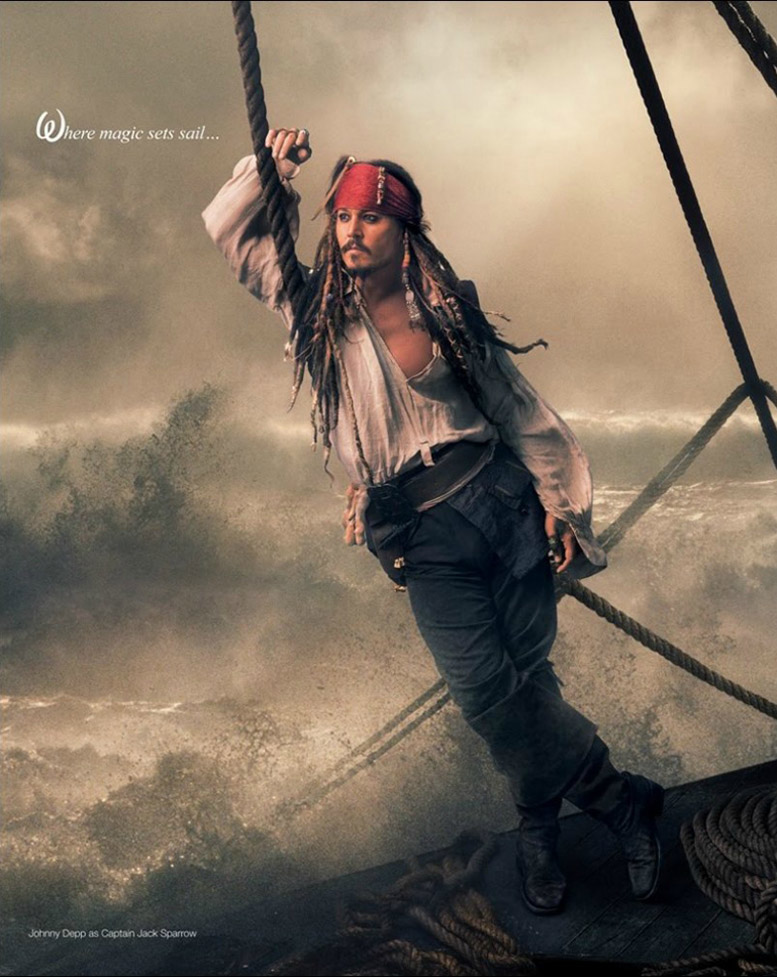 Disney's Year of a Million Dreams by Annie Leibovitz - Johnny Depp as Captain Jack Sparrow / Джонни Депп в образе Капитана Джека Воробья
