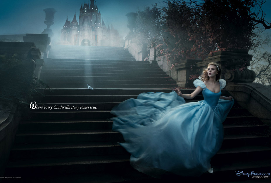 Disney's Year of a Million Dreams by Annie Leibovitz - Scarlett Johansson as Cinderella / Скарлетт Йоханссон в образе Золушки