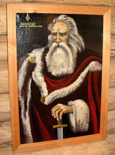 Портрет Намея из экспозиции реконструкции земгальского замка