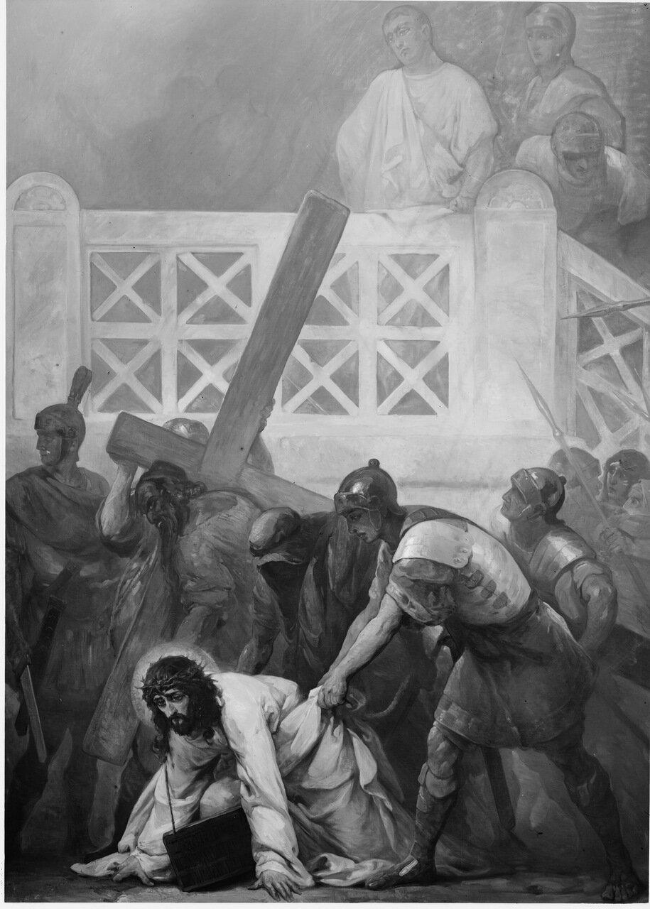 Симон несёт Крест Спасителя