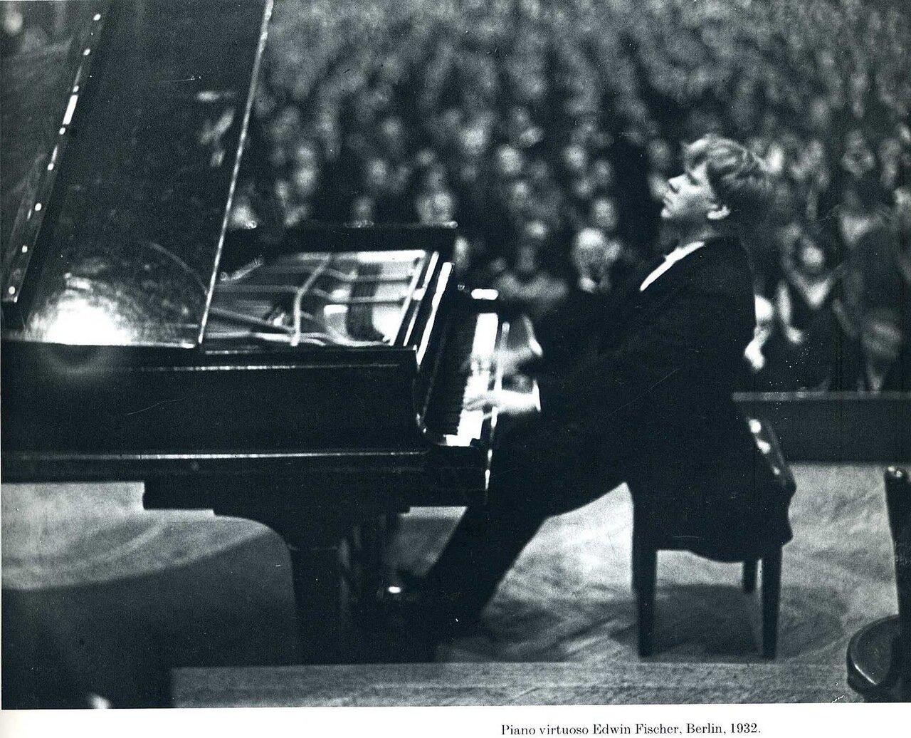 1932. Пианист-виртуоз Эдвин Фишер, Берлин