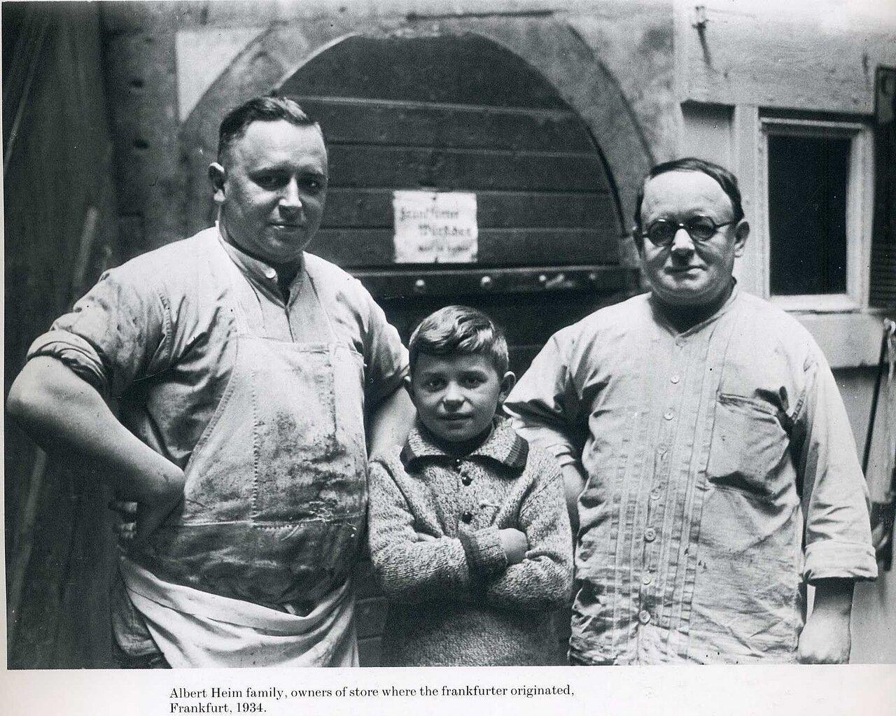 1934. Семья Альберта Хейма, Франкфурт